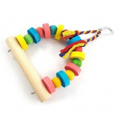 Bird Toy Swing wooden with perch with nylon rope LN-022 13*20CM