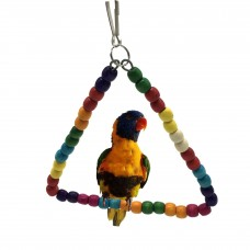 Bird Toy triangle with stand with colorful round balls LN-103 18*16CM