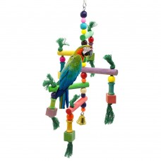 Bird Toy with multiple stands platforms perches with ropes LN-132 30*12 cm