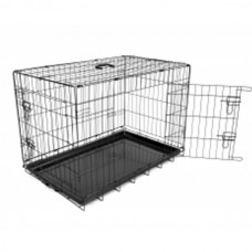 DUVO DOG CRATE 2DOOR PLASTIC TRAY62X44X550(780/381)