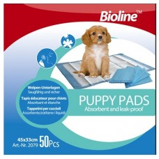 Bioline PUPPY PADS 45x33 CM 50-PC dog item training