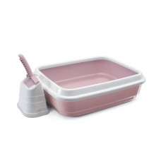 IMAC LITTER TRAYS + SCOOP WITH STAND- 59X40X28 CM (81486)