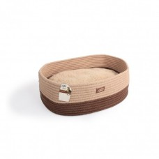 ALL FOR PAWS OVAL ROPE CAT BED TAN
