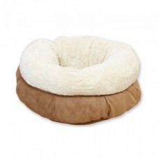 ALL FOR PAWS LAMBSWOOL DONUT CAT BED - TAN
