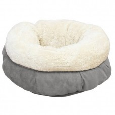 ALL FOR PAWS LAMBSWOOL DONUT CAT BED - GREY