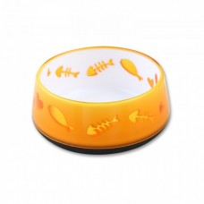 All For Paws CAT LOVE BOWL - ORANGE