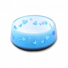 All For Paws CAT LOVE BOWL - BLUE cat item hygiene feeder