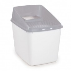 All For Paws NO MESS LITTER BOX - GREY cat open toilet