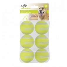 All For Paws INTERACTIVE HYPER FETCH TENNIS BALLS- 6 PCS dog item toy