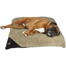 ALL FOR PAWS LAMBSWOOL PILLOW DOG BED - MEDIUM/BROWN