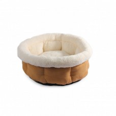 ALL FOR PAWS CUDDLE BED - MEDIUM/TAN
