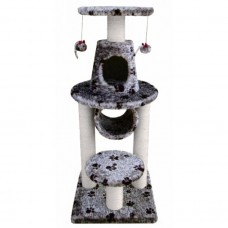 Fauna BONALTI CAT PLAY TOWER GREY WITH PAW PRINT cat item