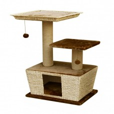 Fauna VILLA CAT PLAY LOUNGE - LIGHT BROWN cat item