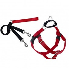 "2 Hounds Design FREEDOM NO-PULL HARNESS AND LEASH - RED / SMALL 5/8"" dog item leash/collar/harness"