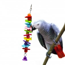Bird Toy with plastic flowers shaped figures LN-035 18CM LONG