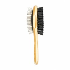 Duvo BAMBOO 2-IN-1 GROOMING BRUSH-L (2x7cm):5414365203382 cat item grooming brush dog item grooming brush
