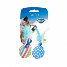 Duvo BALL W/FETHER CAT TOY : 5414365116293 cat item cat toy