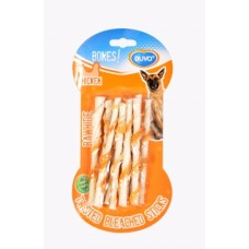 Duvo BONES TWISTED CHICKEN STICKS 10PCS : 5414365117450 dog item treats