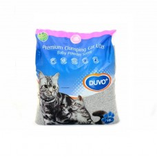 Duvo CATLITTER PREMIUM WITH BABY POWDER 15KG cat item cat litter clumping