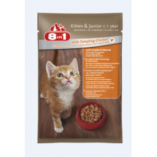8 in 1 Kitten & Junior With Tempting Chicken 24Pcsx100g cat treats