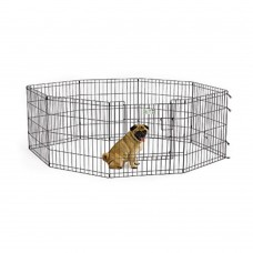 MidWest 24″ Black Exercise Pen with Full MAX Lock Door