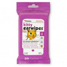 Petkin Kitty Ear Wipes 30ct dog item grooming wet wipes healthcare eye/ear care