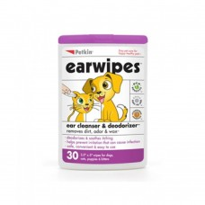 Petkin Ear Wipes 30 Count dog item grooming wet wipes healthcare eye/ear care