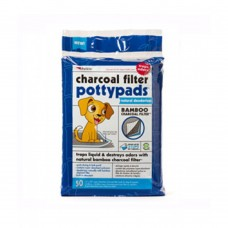 Petkin Charcoal Filter Potty Pads 50ct-PACK OF 3 dog item training