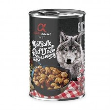 Alpha Spirit Wet Food Meat Balls with Red Deer & Rosemary 400grms