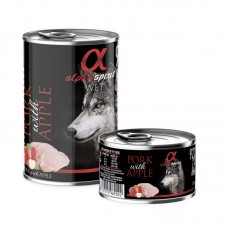 Alpha Spirit Wet Food Pork with Apple 400grms