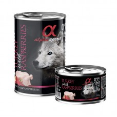 Alpha Spirit Wet Food Turkey with Raspberries 400grms