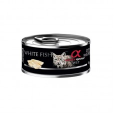 Alpha Spirit Wet Food WHITE FISH for Cats 85g
