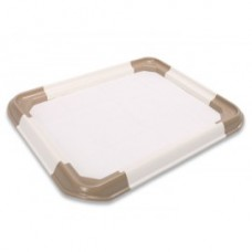 Nutra Pet Assembled Dog Lavatory Brown L 62.5 X W 62.5 X H 5cms ( Large) DOG ITEMS TRAINING TOILET