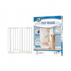 Four Paws Foot Release Metal Gate 30-34 AndW X 32 And H dog item house&cage