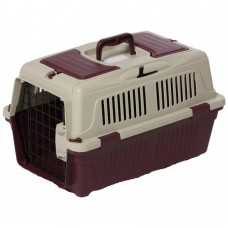 Nutra Pet Dog Cat Carrier Box Closed Top Dark Red L55CmsX W33Cms X H30 Cms cat item carrier Non-IATA dog item carrier Non-IATA