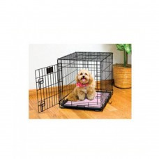 Drymate Dry Mate Pink Paw Stripe Dog Crate Mat 15 X 22 Inches dog item house&cage training