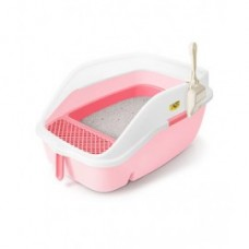 CatIdea CAT ITEMS CAT OPEN TOILET Luxury Open Cat Litter Station With Sifter-Pink