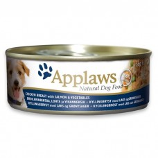 Applaws Dog Chicken Salmon 156g Tin