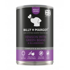 Billy & Margot Venison with Green Beans Canned Adult Dog Food 395G