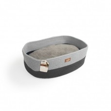 ALL FOR PAWS OVAL ROPE CAT BED GREY