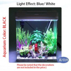BOYU MS-320 glass aquarium fish tank black color small for home and office
