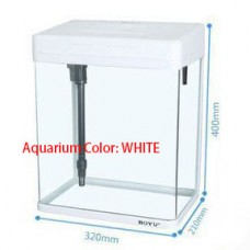 BOYU MS-320 glass aquarium fish tank white color small for home and office