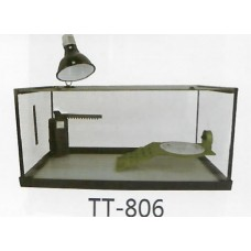 KWZONE SMALL ANIMAL ITEMS TURTLE ITEMS KW GLASS TURTLE TANK WITH RL101