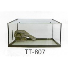 KWZONE SMALL ANIMAL ITEMS TURTLE ITEMS KW GLASS TURTLE TANK WITHOUT RL101