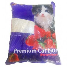 SUM CAT PREMIUM CAT LITTER STRAWBERRY 10L clumping